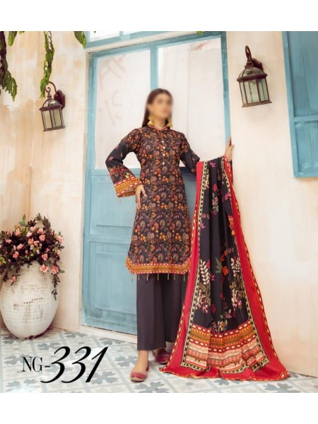 NUR Girls Printed Lawn Collection D-NG 331