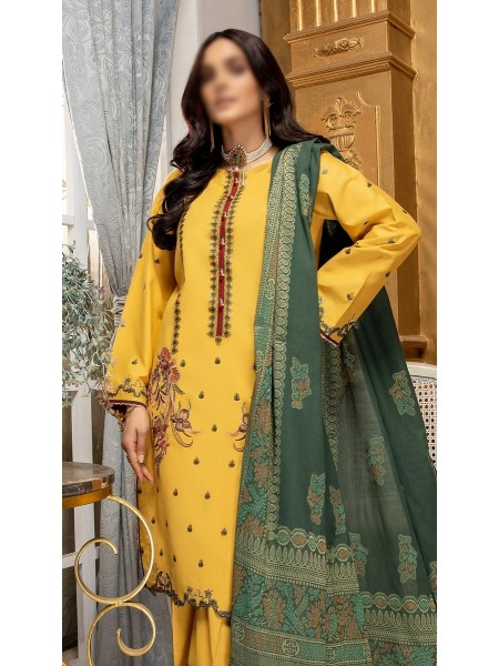 RaniSa By Panache Embroidered Slub Lawn Collection D-01