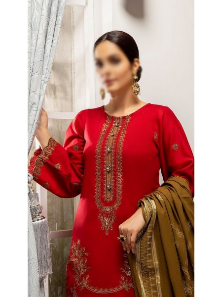 RaniSa By Panache Embroidered Slub Lawn Collection D-08