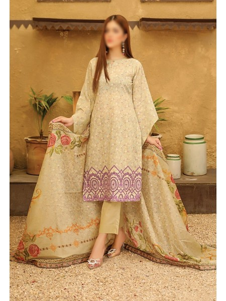 RIAZ ARTS Guzel Embroidered ChikanKari Mother Collection D05