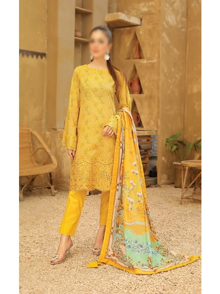 RIAZ ARTS Guzel Embroidered ChikanKari Mother Collection D08