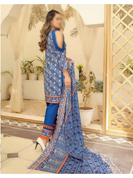 RIAZ ARTS Mahees Embroidered Print Lawn Collection D-D 09