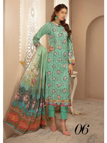 RIAZ ARTS Naqsh Lawn Girls Collection D-06