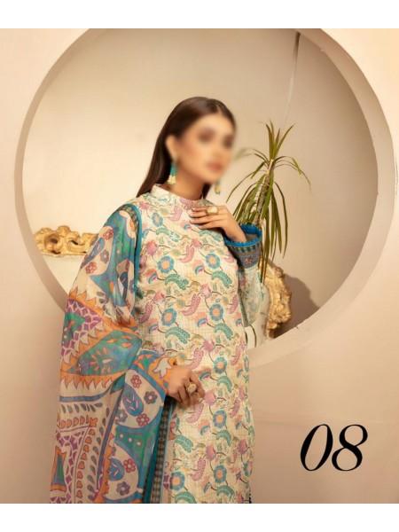 RIAZ ARTS Naqsh Lawn Girls Collection D-08