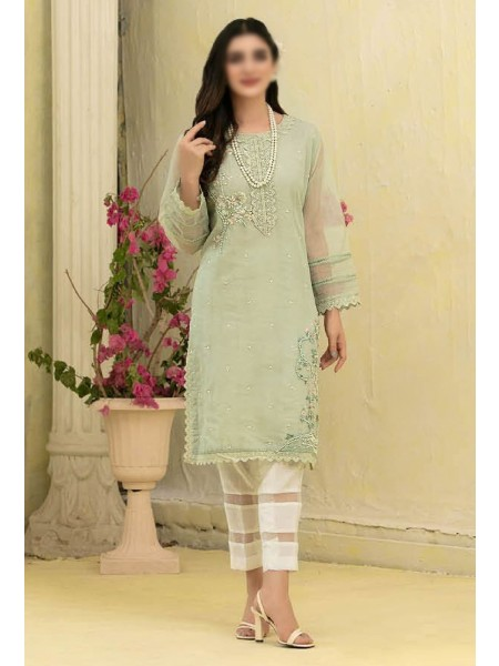 TAWAKKAL Florence Organza Stitched Kurti Embroidered Collection D-1382
