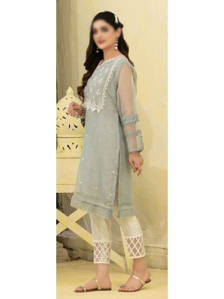 TAWAKKAL Florence Organza Stitched Kurti Embroidered Collection D-1383