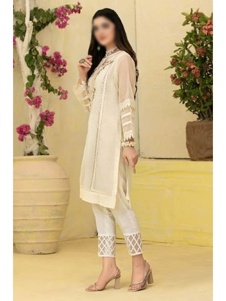 TAWAKKAL Florence Organza Stitched Kurti Embroidered Collection D-1384