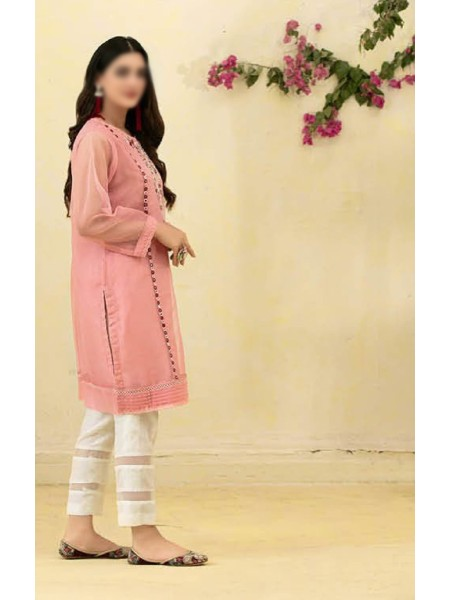 TAWAKKAL Florence Organza Stitched Kurti Embroidered Collection D-1385