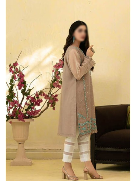 TAWAKKAL Florence Organza Stitched Kurti Embroidered Collection D-1386