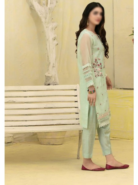 TAWAKKAL Florence Organza Stitched Kurti Embroidered Collection D-1387