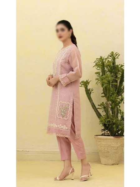 TAWAKKAL Florence Organza Stitched Kurti Embroidered Collection D-1388