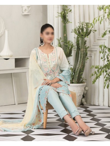 TAWAKKAL Raqami Digital Print And Embroidered Lawn Collection D-1605