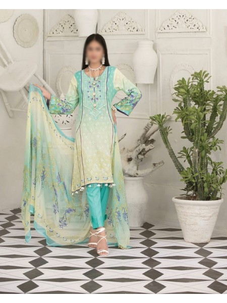 TAWAKKAL Raqami Digital Print And Embroidered Lawn Collection D-1608