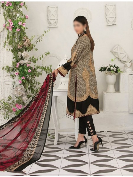 TAWAKKAL Raqami Digital Print And Embroidered Lawn Collection D-1609