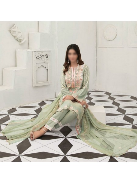TAWAKKAL Raqami Digital Print And Embroidered Lawn Collection D-1614