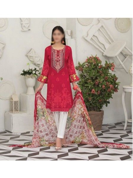 TAWAKKAL Raqami Digital Print And Embroidered Lawn Collection D-1616