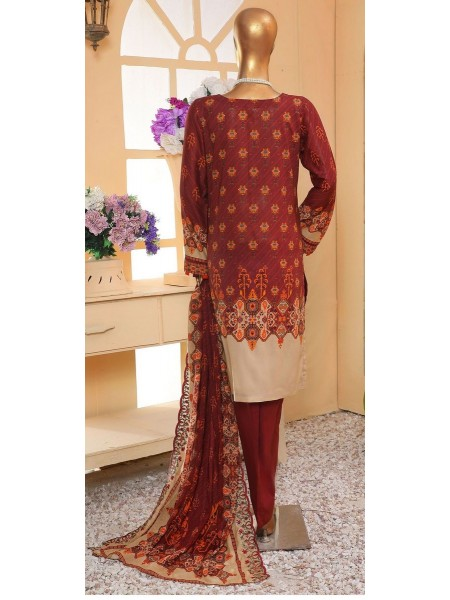 Sadabahar Eid festive stitched collection D-ST 4854 MAHROON