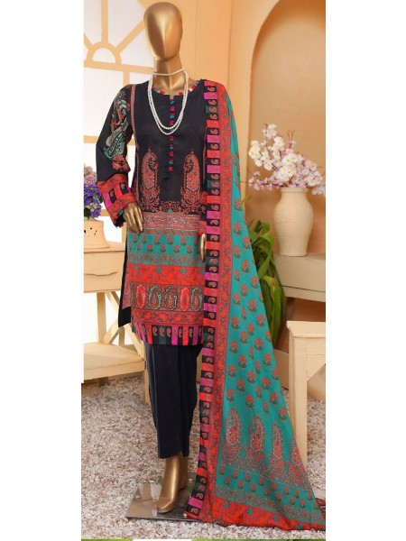 Sadabahar Eid festive stitched collection D-ST 4868 BLACK