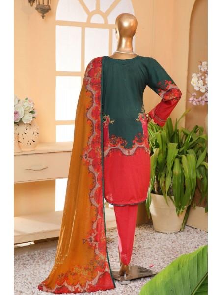 Sadabahar Eid festive stitched collection D-ST 4876 GREEN