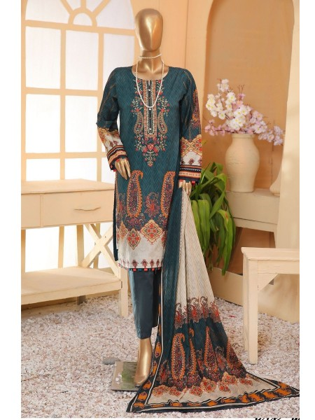 Sadabahar Eid festive stitched collection D-ST 4909 K green