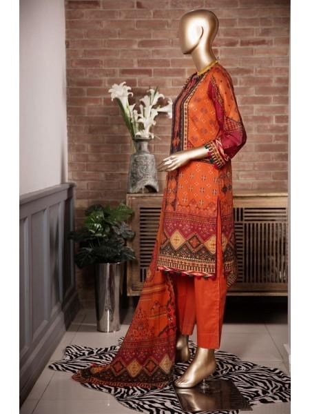Sadabahar Festival Pretty Wear 3 PCS Stitched Collection 2021 D-ST 4840 ORANGE