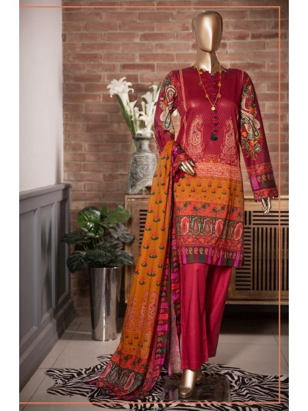 Sadabahar Festival Pretty Wear 3 PCS Stitched Collection 2021 D-ST 4862 MAHROON