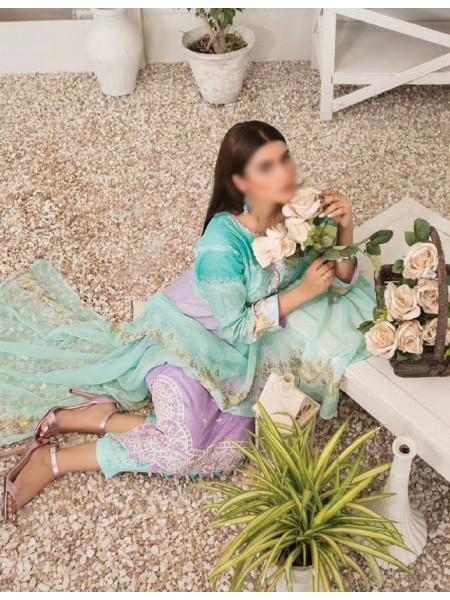 TAWAKKAL Esfir Lawn Digital Print and Embroiderey Collection D-1593
