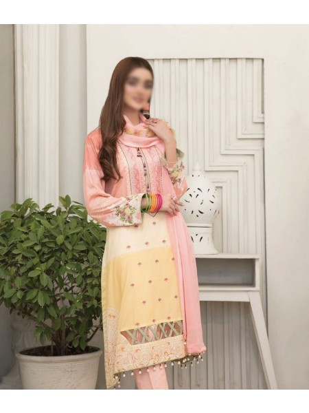 TAWAKKAL Esfir Lawn Digital Print and Embroiderey Collection D-1594