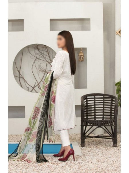 TAWAKKAL Esfir Lawn Digital Print and Embroiderey Collection D-1596