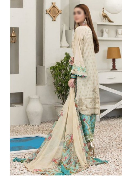 TAWAKKAL Esfir Lawn Digital Print and Embroiderey Collection D-1597