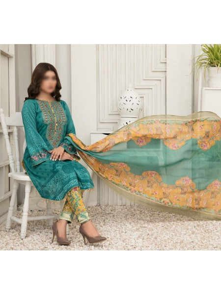 TAWAKKAL Esfir Lawn Digital Print and Embroiderey Collection D-1598