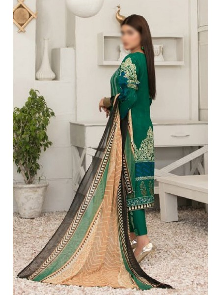 TAWAKKAL Esfir Lawn Digital Print and Embroiderey Collection D-1603