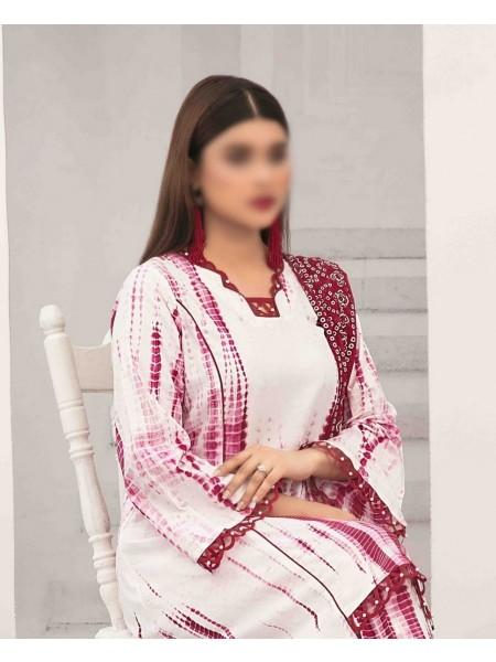 TAWAKKAL Rouche Luxury Tie & Dye Chiffon Dupatta Collection D-1803