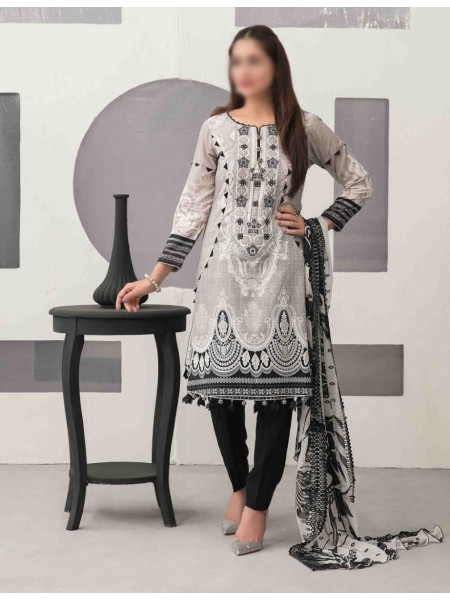 TAWAKKAL Sage Lawn Printed and Embroidered Collection D-1742