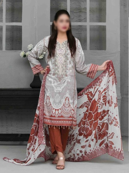 TAWAKKAL Sage Lawn Printed and Embroidered Collection D-1744