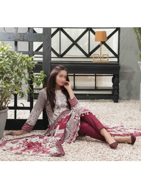 TAWAKKAL Sage Lawn Printed and Embroidered Collection D-1749