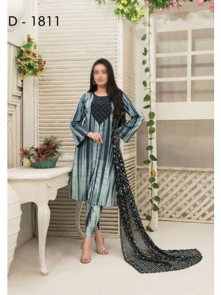 Amna Khadija Tie & Dye Jacquard Cotton Collection'21 D-1811