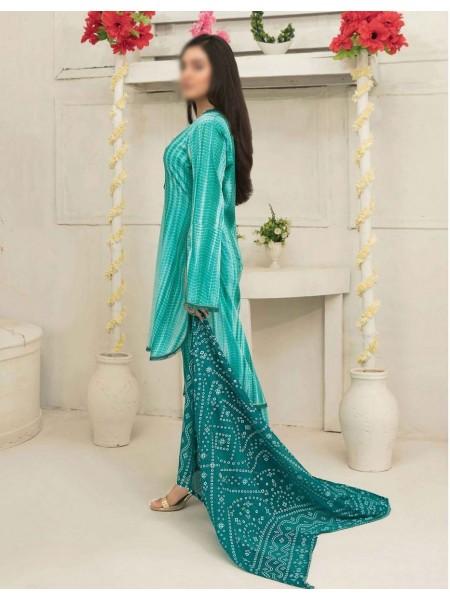 Amna Khadija Tie & Dye Jacquard Cotton Collection'21 D-1812