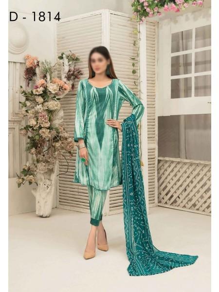 Amna Khadija Tie & Dye Jacquard Cotton Collection'21 D-1814