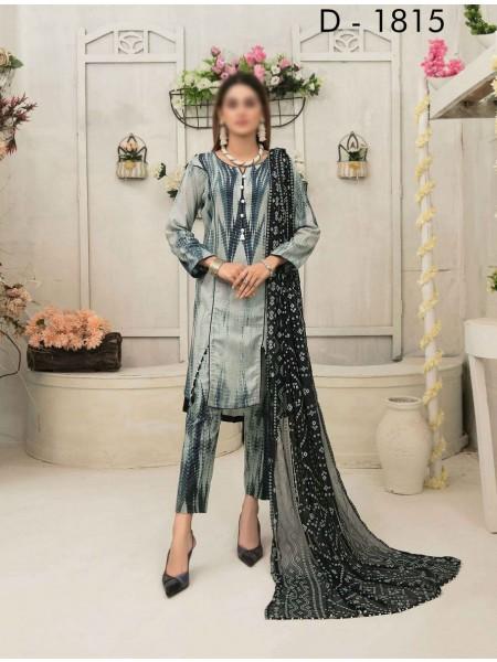 Amna Khadija Tie & Dye Jacquard Cotton Collection'21 D-1815