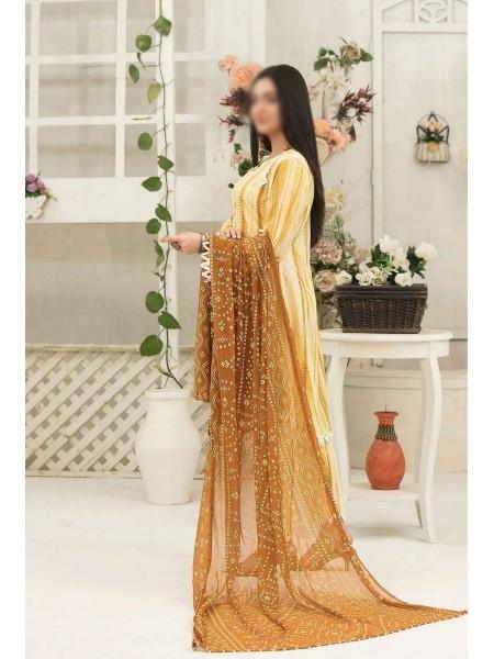 Amna Khadija Tie & Dye Jacquard Cotton Collection'21 D-1816