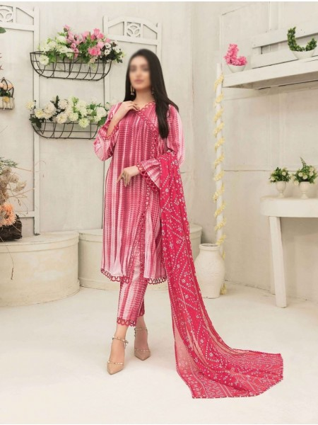 Amna Khadija Tie & Dye Jacquard Cotton Collection'21 D-1817