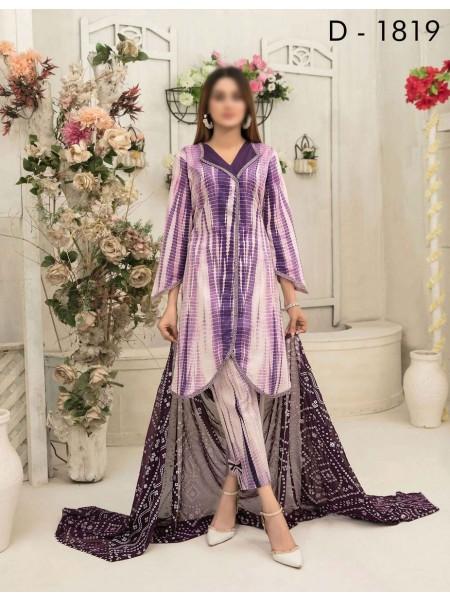 Amna Khadija Tie & Dye Jacquard Cotton Collection'21 D-1819