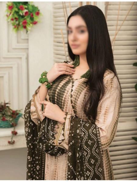 Amna Khadija Tie & Dye Jacquard Cotton Collection'21 D-1820