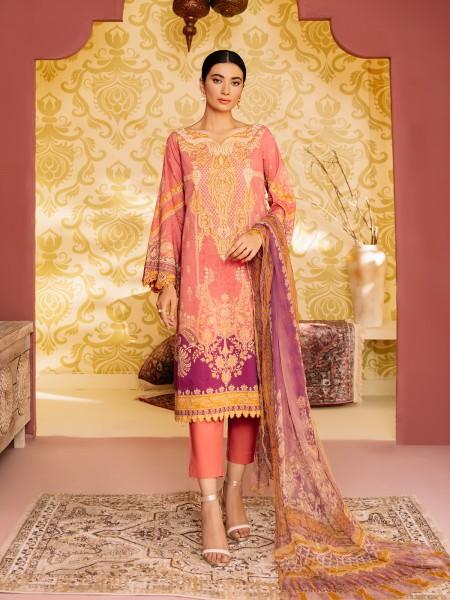Edenrobe Nayab Collection EWU21V2-20464 - Pink - 3 Piece