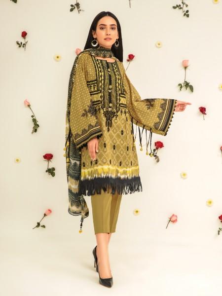 Edenrobe Nayab Collection EWU21V2-20470 - Light Gold - 3 Piece