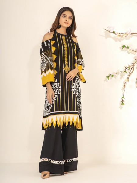 Edenrobe Nayab Collection EWU21V2-20533 - Black & Golden - 1 Piece