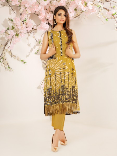 Edenrobe Nayab Collection EWU21V2-20542 - Mustard - 1 Piece