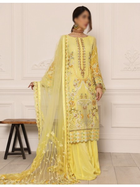 Emaan Adeel Present LAmour Chiffon Collection D-LR 07
