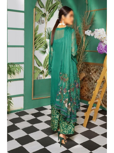 Gladious Unstitched Embroidered Chiffon Collection D-02